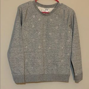 Grey Beaded Sweatshirt